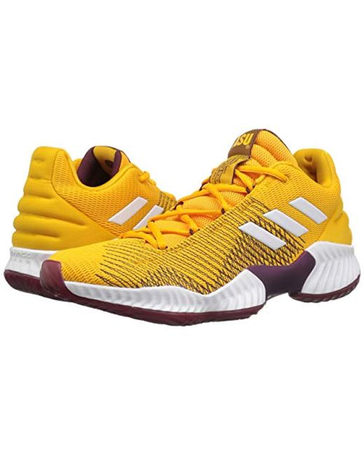 newest ffca4 beb6f ... Adidas Originals - Yellow Pro Bounce 2018 Low Basketball Shoe for Men -  Lyst ...
