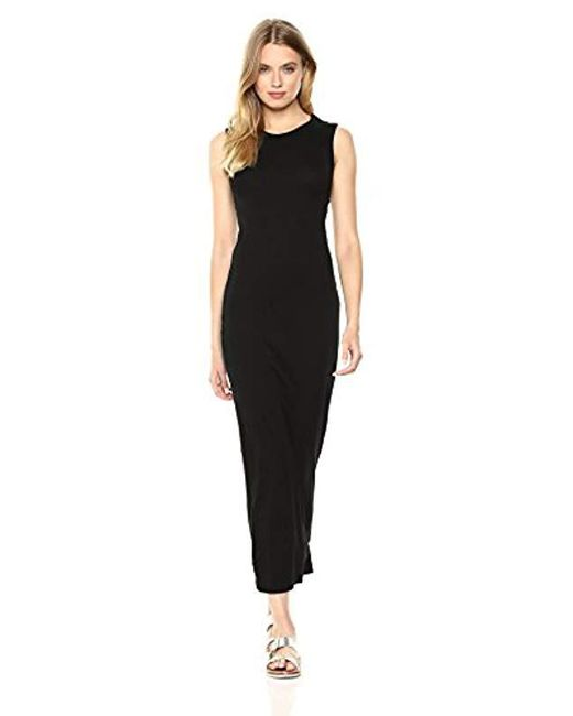 Enza Costa - Black Island Cotton Sleeveless Muscle Dress - Lyst