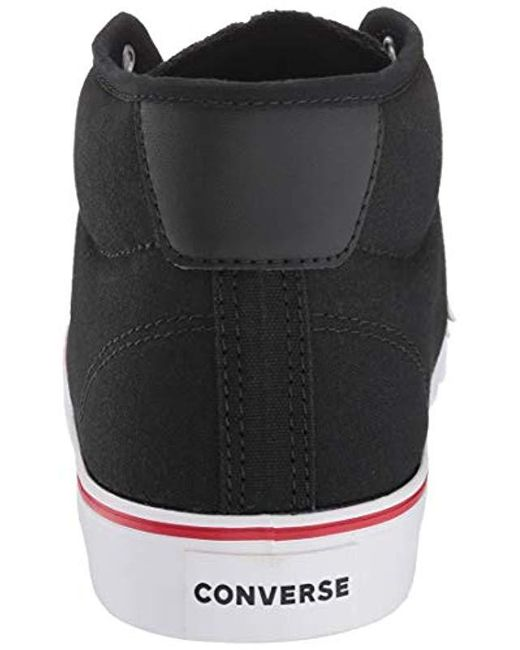 eb5c82809c2bc0 ... Converse - Black Unisex Star Replay Mid Top Sneaker for Men - Lyst ...
