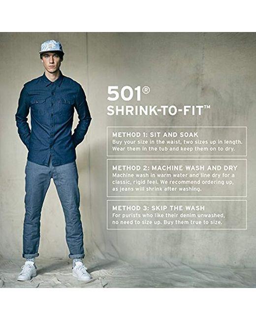 Levi's - Blue 501 Original Shrink To Fit Jean for Men - Lyst