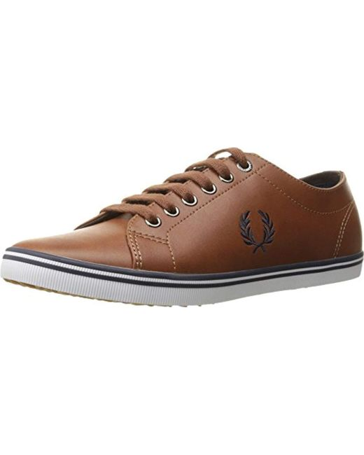 Fred Perry - Brown Kingston Leather Sneaker for Men - Lyst