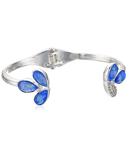 Kenneth Cole - Multicolor Power Of The Flower Opal And Crystal Stone Open Hinge Cuff Bracelet - Lyst