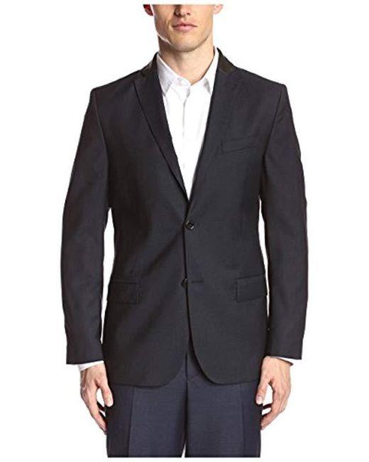 275498f1f8 J.Lindeberg - Black Hopper Soft 100 s Structure Sportcoat for Men - Lyst ...