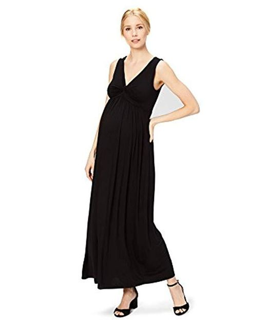 3af45a87ae Daily Ritual - Black Maternity Sleeveless Gathered Center V-neck Maxi Dress  - Lyst ...