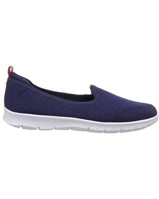 2032fee0746 Lyst - Clarks Step Allena Lo Loafer Flat in Blue - Save 35%