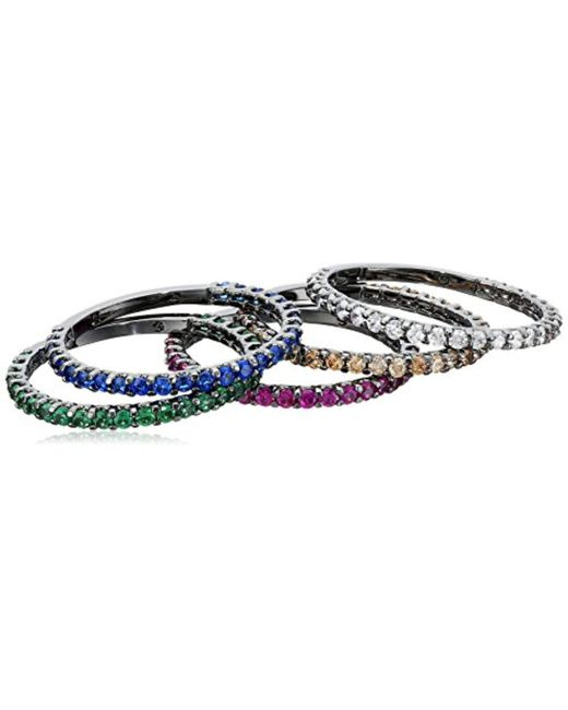 Noir Jewelry - Multicolor Dover Stackable Ring - Lyst