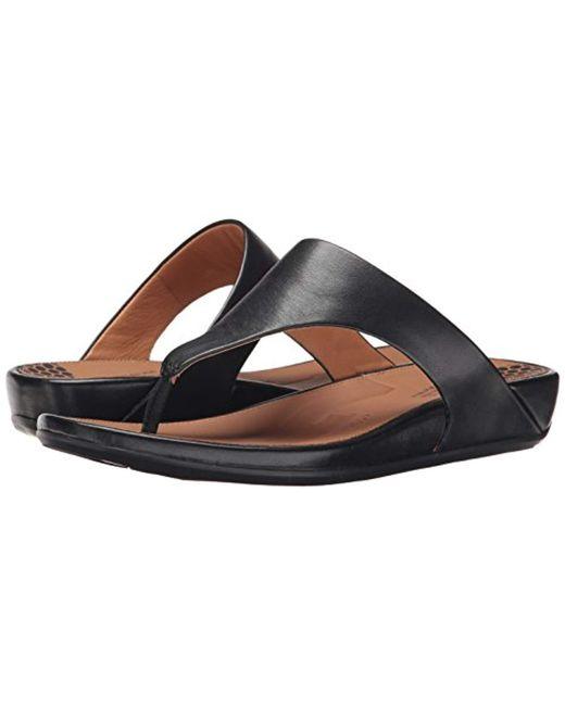83784e8ddf1b ... Fitflop - Black Banda Ii Toe-thong Sandals-leather Open - Lyst ...