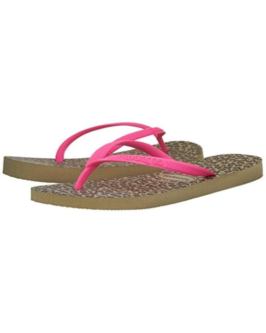 3906a2e381c0 Lyst - Havaianas Slim Animal Flip Flop Sandal - Save 61.53846153846154%