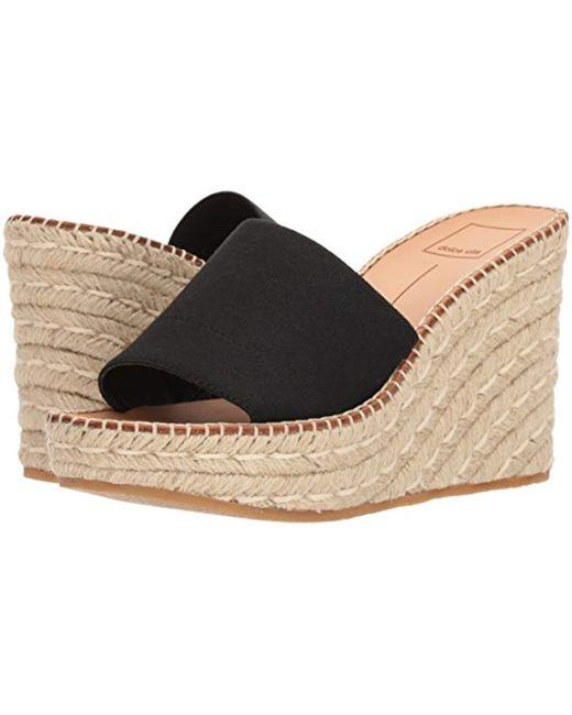 9bf592500de Lyst - Dolce Vita Pim Espadrille Wedge Sandal in Black - Save 4%