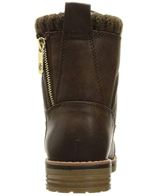 17ef06903b925 Lyst - Tommy Hilfiger Omar2 Combat Boot in Brown - Save 13%