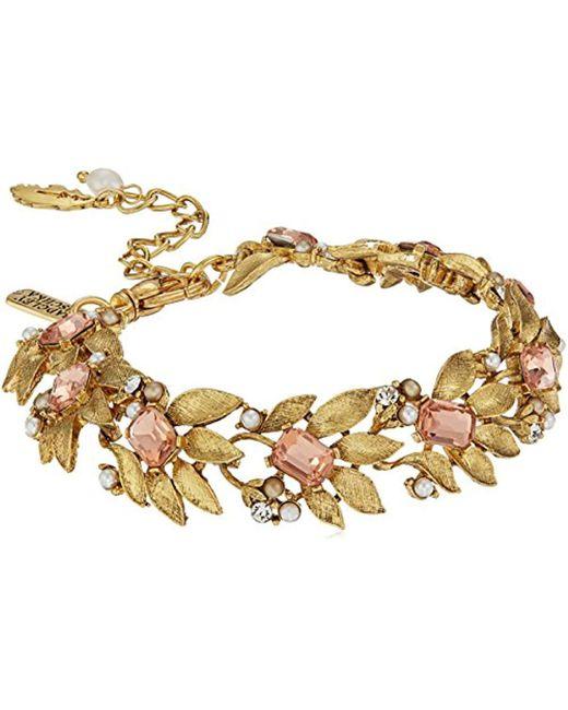 Badgley Mischka - Metallic Metal Floral Bracelet - Lyst