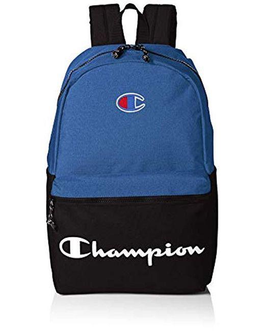 ... online store d9a4b d9ad3 Champion - Blue Manuscript Backpack for Men -  Lyst .. ... 35db905313