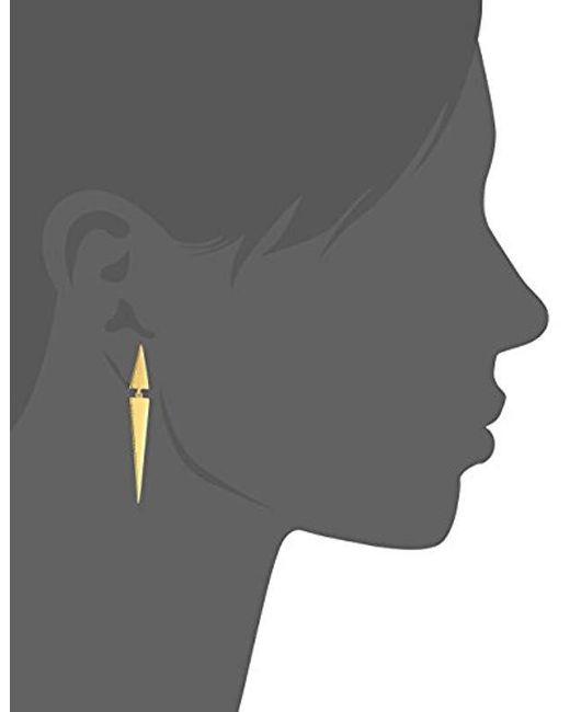 Elizabeth and James - Metallic Itten Drop Earring, Gold - Lyst