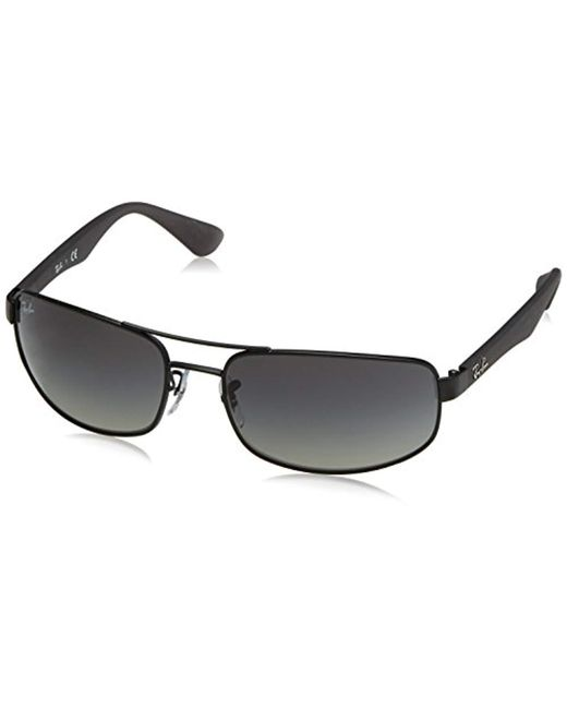 adf93ceb4c030 Ray-Ban - Rb3445 Rectangular Sunglasses Matte Black 61 Mm for Men - Lyst ...