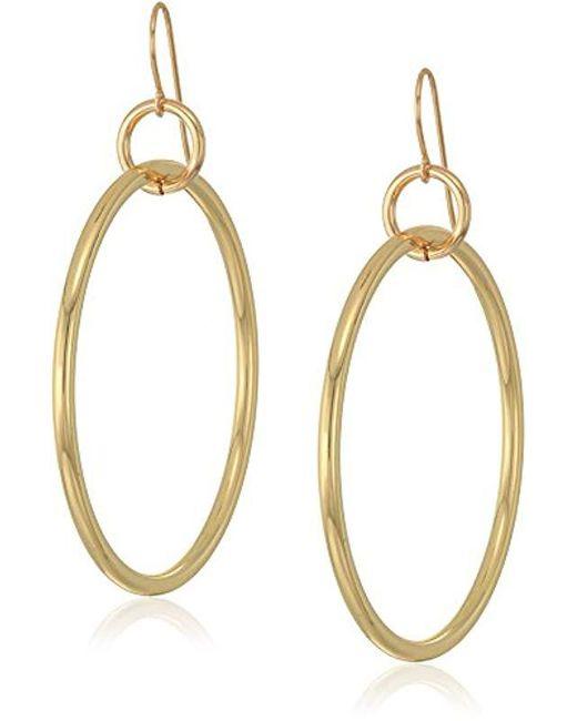 Elizabeth and James - Metallic Lueur Hoop Earring, Gold - Lyst