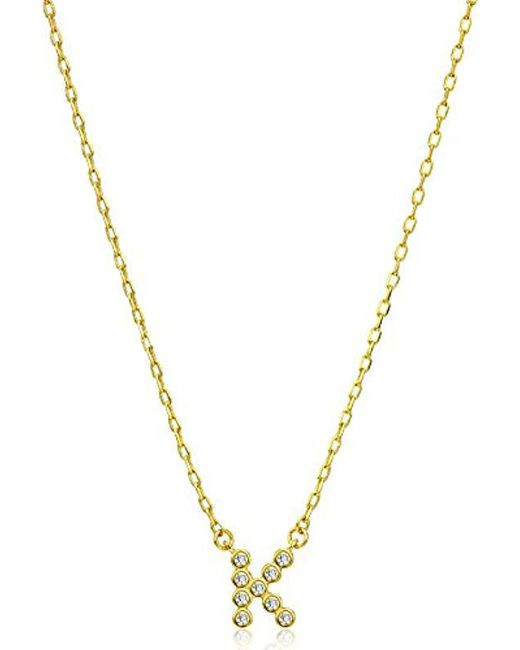 Kate Spade - Metallic One In A Million Stone K Pendant Necklace - Lyst