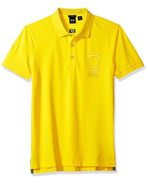 BOSS - Yellow Boss Orange World Cup Soccer Country Polo Shirt for Men - Lyst