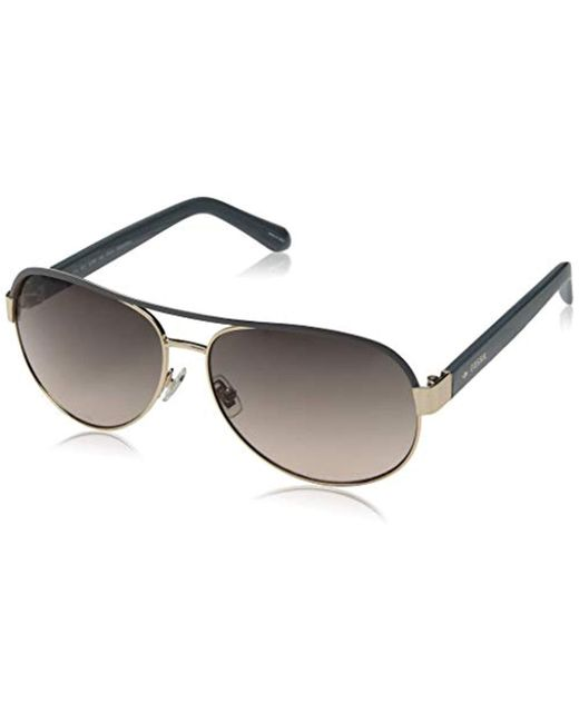 Fossil - Fos 3039/s Aviator Sunglasses, Rose Gold Gray, 58 Mm - Lyst