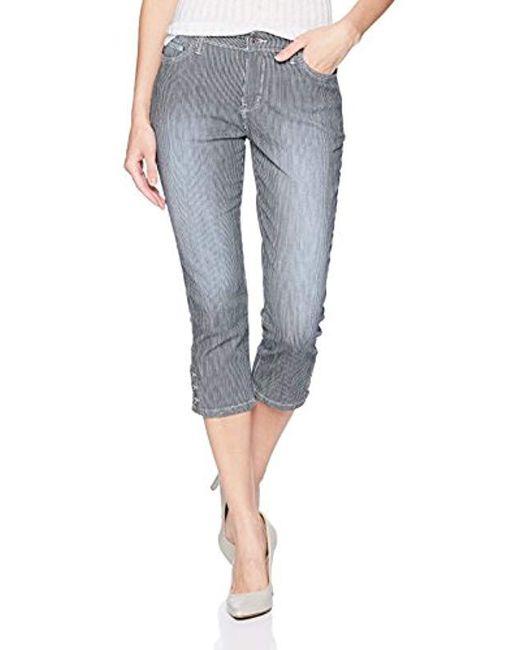 Lee Jeans Blue Modern Series Midrise Fit Jayla Capri Jean