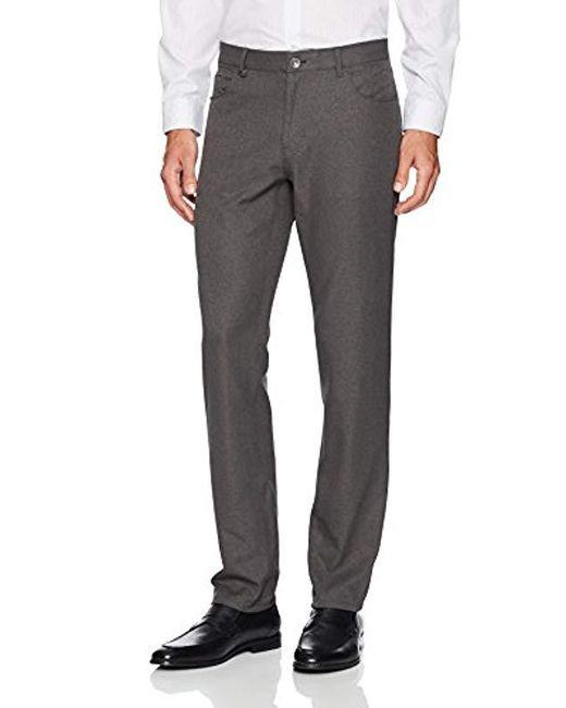 3abf3e73e44b Lyst - Calvin Klein Slim Fit End Bi-stretch Pant in Gray for Men ...