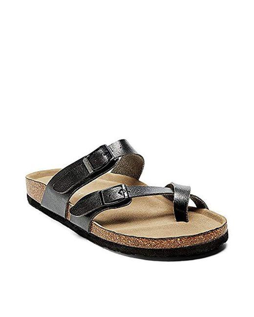 Madden Girl - Black Bryceee Toe Ring Sandal - Lyst