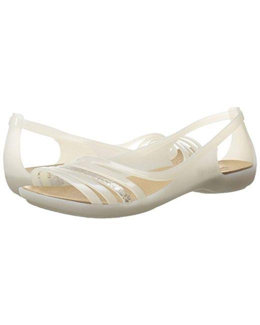 6b96a1a80e121 ... Crocs™ - Multicolor Isabella Huarache Flat Jelly Sandal - Lyst ...