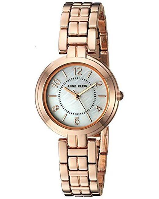 367459e73 Anne Klein - Metallic Genuine Diamond Dial Mesh Bracelet Watch - Lyst ...