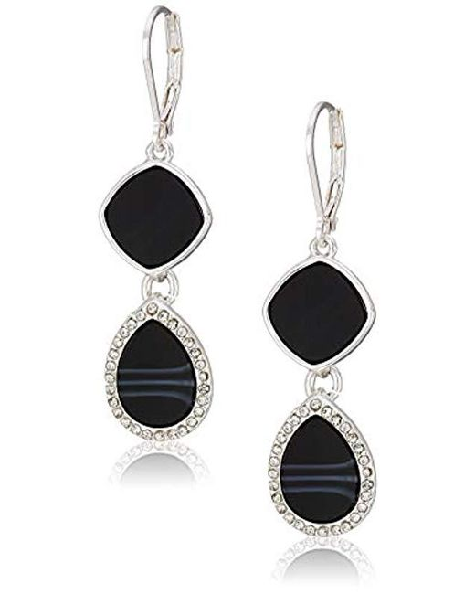 Nine West Multicolor Drop Earrings Jet Lyst