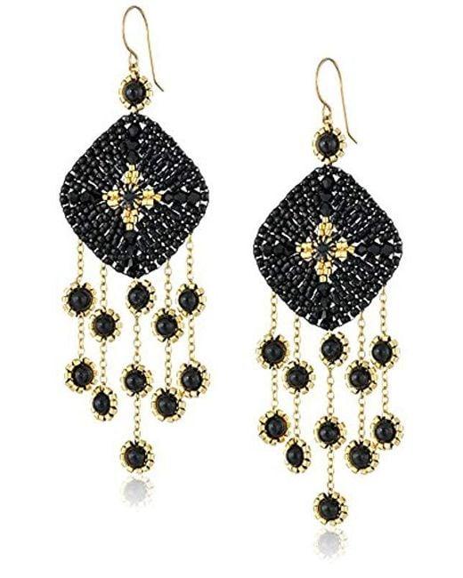 8ee73e594 Miguel Ases - Black 14k Gold-filled Onyx Drop Earrings - Lyst ...