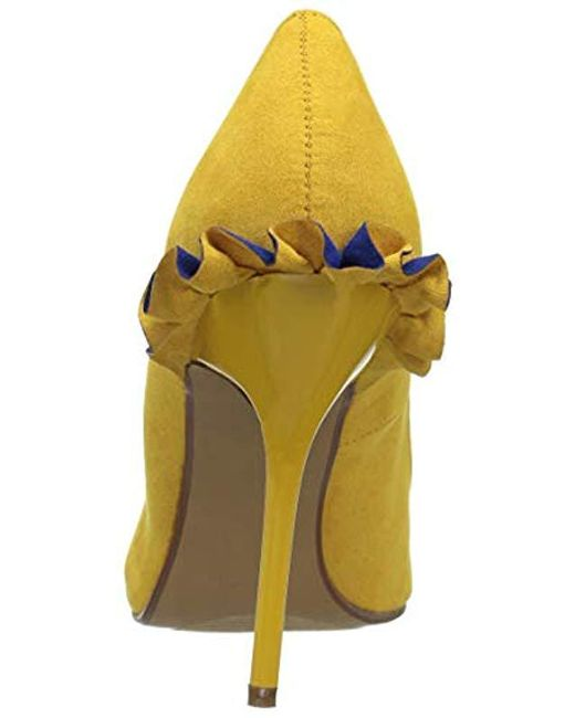 e70f2fe5a782 Lyst - Betsey Johnson Dorthi Pump in Yellow - Save 44%