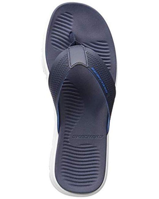 dd0b91bbdd7e Skechers - Blue Wind Swell Butterlake Flip-flop for Men - Lyst ...