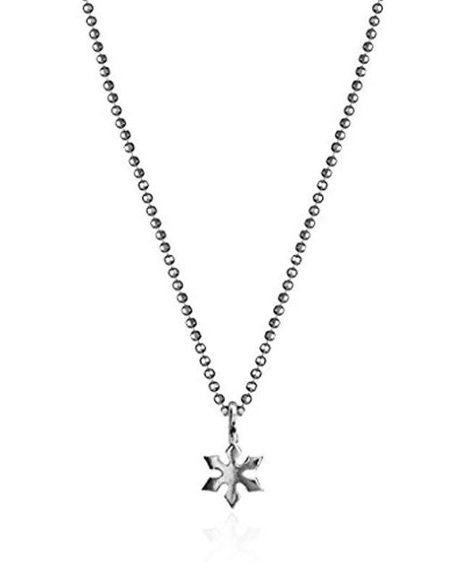 "Alex Woo - Metallic Sterling Silver Mini Snowflake Pendant Necklace, 16"" - Lyst"