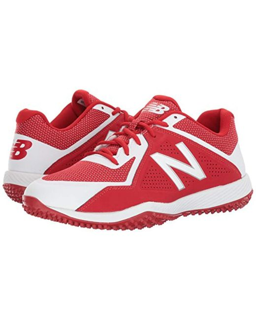 Men's Red T4040v4 Turf Baseball Shoe