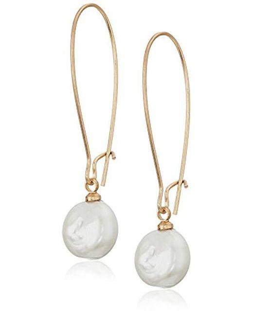 The Sak - Metallic S Elongated Pearl Drop Earrings - Lyst