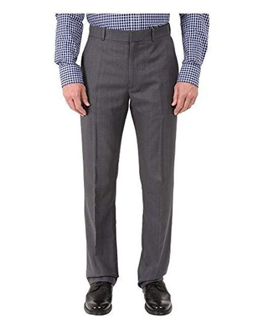 Perry Ellis - Gray Portfolio Modern Fit Plaid Performance Pant for Men - Lyst