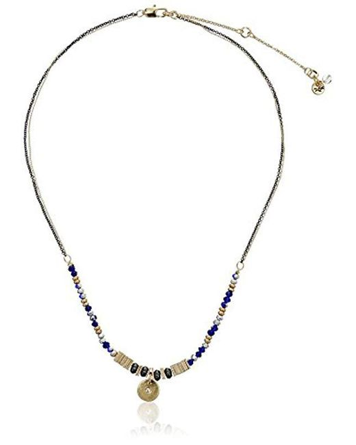"""Kenneth Cole - Blue """"delicates Mixed Bead Circle Pendant Necklace, 16''+3'' Extender - Lyst"""