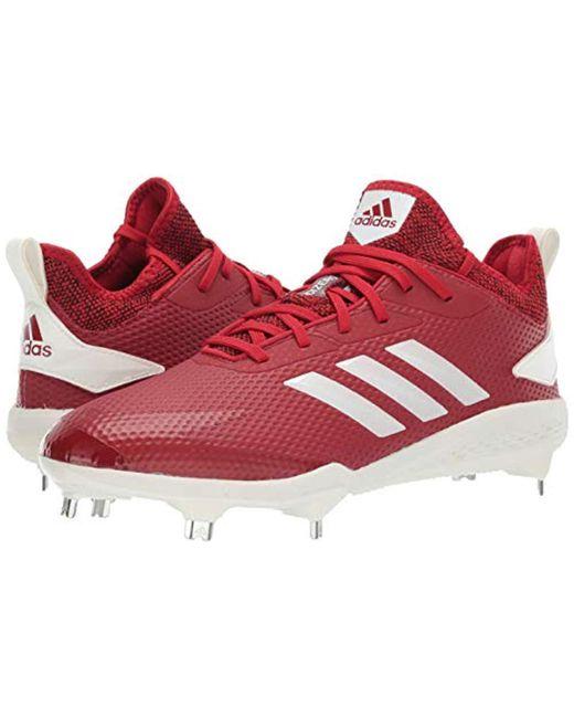 55a09b369892 ... Adidas - Red Adizero Afterburner V Baseball Shoe for Men - Lyst ...