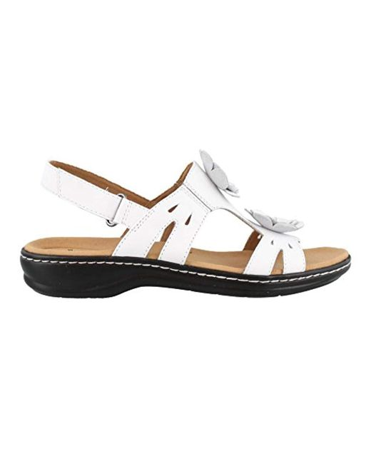 d1db1c05fd6a Lyst - Clarks Leisa Claytin Flat Sandal in White - Save 26%
