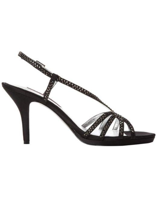 38695ffb727f ... Nina - Black Bobbie Ls Dress Sandal - Lyst ...