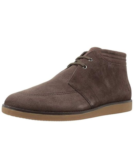 Fred Perry - Brown Southall Mid Suede Chukka Boot for Men - Lyst
