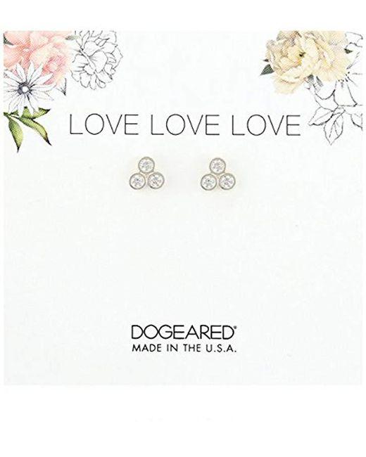 Dogeared - Metallic Love Trio Stud Earrings - Lyst