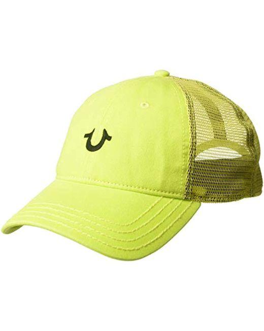 True Religion Green Core Logo Trucker Cap for men