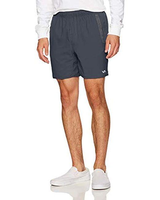 RVCA - Gray Yogger Short for Men - Lyst