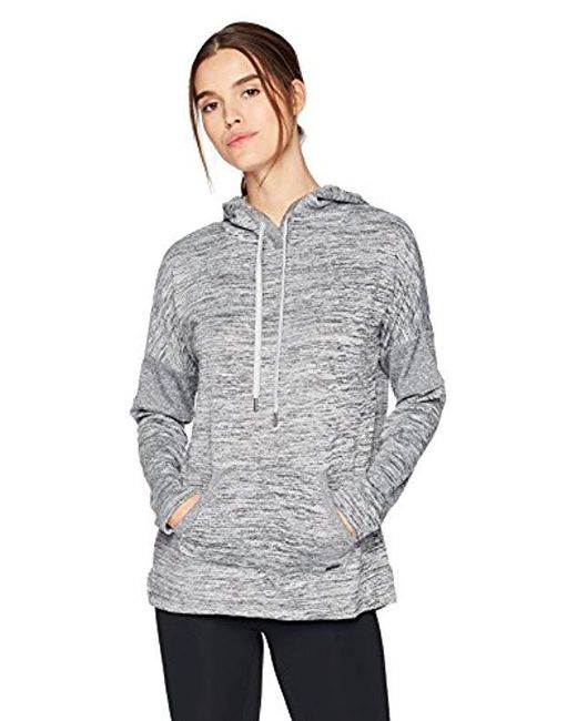 Marc New York - Gray Marled Sweater-knit Hooded Tunic - Lyst