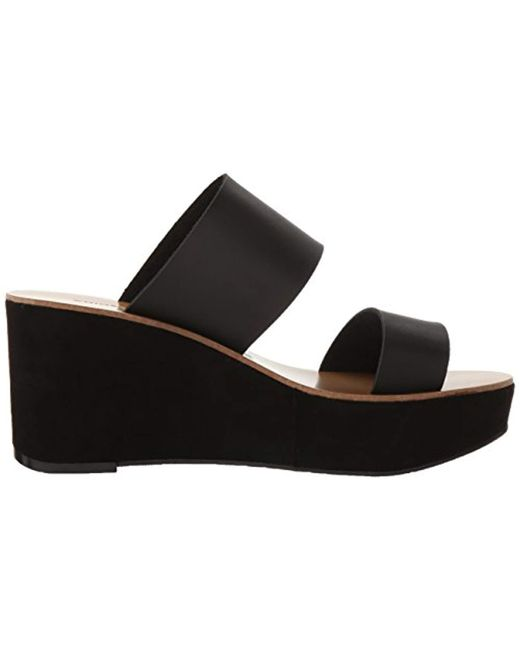 0eedb78826f Lyst - Chinese Laundry Ollie Wedge Slide Sandal in Black - Save 51%