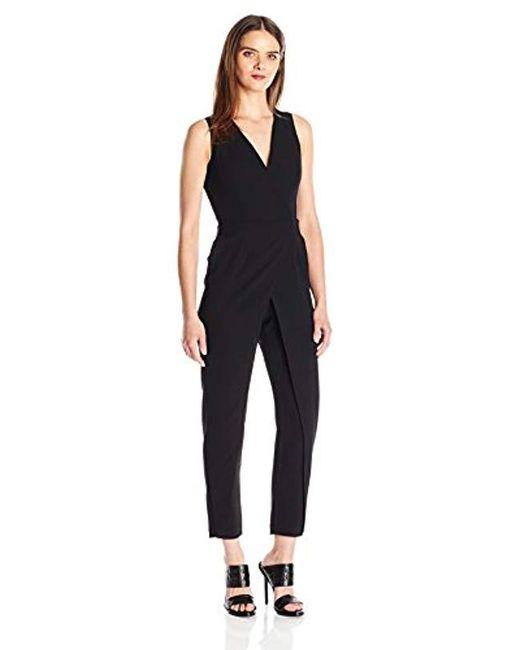 b0a15efd79e5 Lyst - BCBGeneration Vest Jumpsuit in Black - Save 30%
