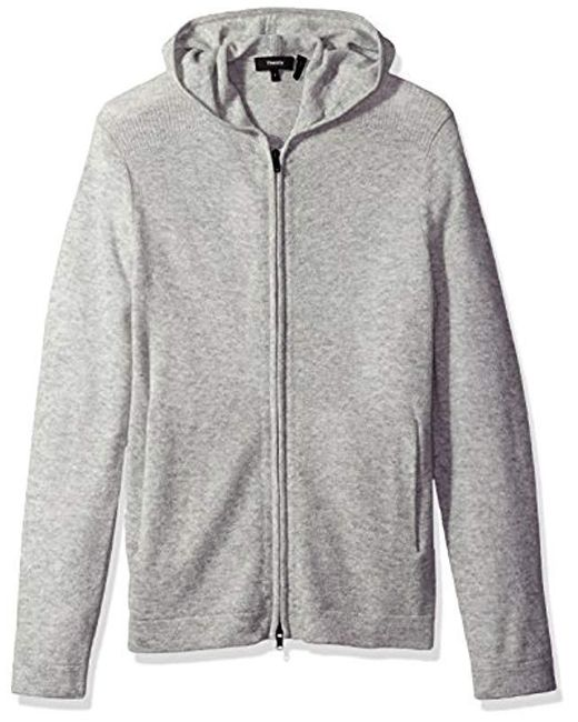 Theory - Gray Kamero Sd Aires Fzip Hood for Men - Lyst