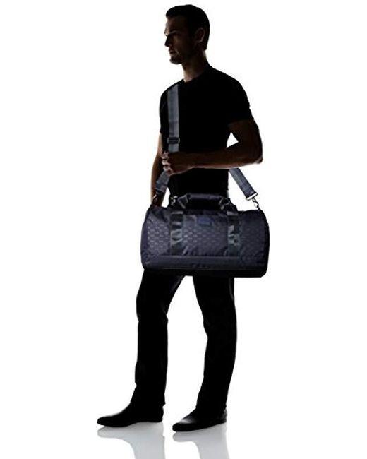 0c3c048e0e12 ... Armani Exchange - Black Rmni Exchnge Light Weight Dobby Nylon Ll Over  Logo Duffle Weekender Bg