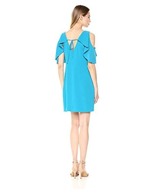 7b739b8769021 ... Trina Turk - Blue Trina Kaidence Cold Shoulder Dress - Lyst ...