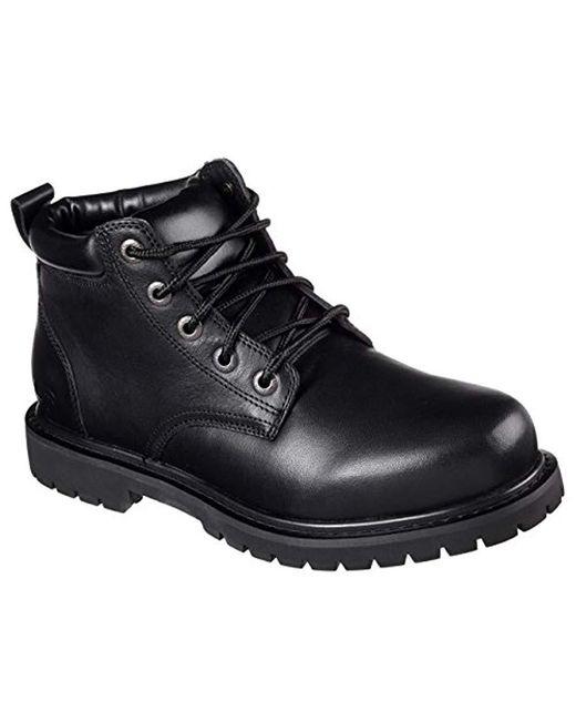 Skechers - Black For Work Cottonwood Arbyrd Boot for Men - Lyst